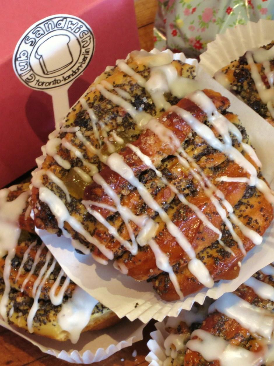 Poppyseed Chelsea Buns w/ Currants, Pineapple + Lemon Glaze